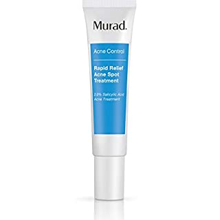 Murad Rapid Relief Acne Spot Treatment with 2% Salicylic Acid - (0.5 fl oz), Maximum Strength Invisible Gel Spot Solution for Fast Acne Relief That Reduces Blemish Size and Redness Within 4 Hours