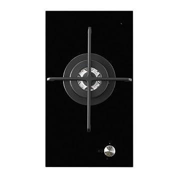 IKEA MOJLIG - gas Domino vitrocerámica 1 quemador, negro - 29 cm: Amazon.es: Hogar
