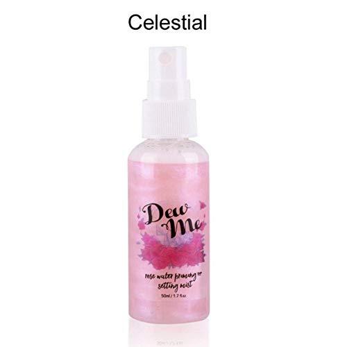 whiteswan - Highlighter Liquid Setting Spray Illuminating Face Shimmer Long-Lasting Brighten Glow Rose Gold Highlight ()