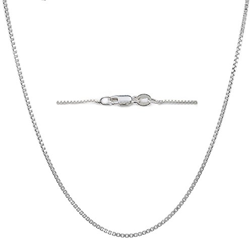 Sterling Silver 24 Link Chain (Sterling Silver BOX 1 MM Nickel Free Chain 14