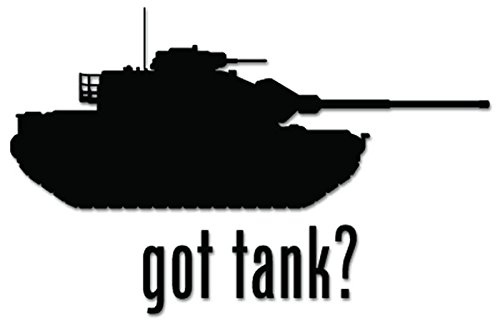 Got Tank Military Army Vinyl Decal Sticker For Vehicle Car Truck Window Bumper Wall Decor - [6 inch/15 cm Wide] - Matte BLACK Color