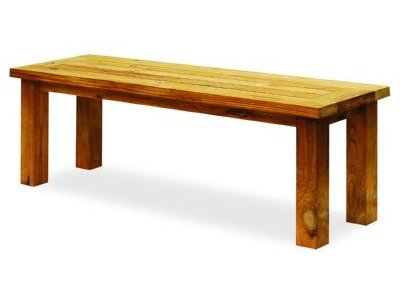 Beau Atlanta Teak Furniture   Reclaimed Teak Backless Bench   2 Seater