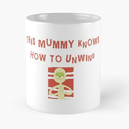 Funny Yoga Gifts For Mom Your Mummy Loving Halloween Gift Funny Christmas Day Mug Gifts Ideas For Mom - Great Ceramic Coffee Tea Cup ()
