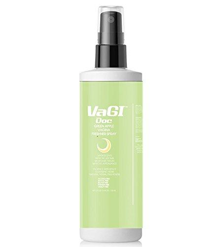 Vagi DocTM Green Apple Vagina Freshener Spray (Daily Usage, 100% Real Fruit Juice)