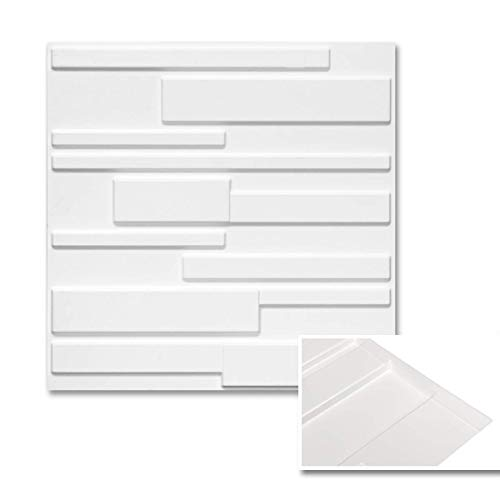 Wall Puzzle by Urban Decor - Easy Peel & Stick 3D Decorative Panels for Home and Business (32sqft/Box, Wall Puzzle) (Urban Brick)