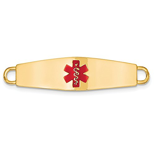 Best Designer Jewelry 14k Medical Jewelry ID Plate