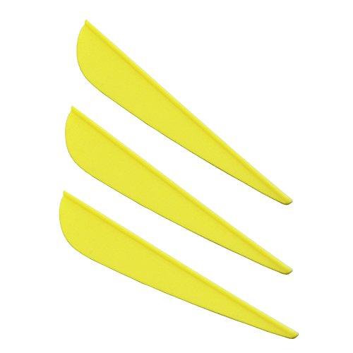 100 Pcs 3 inch Plastic Arrow Vane Fletching for DIY Arrow Archery Bow Yellow Mangobuy