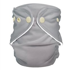 FuzziBunz Adjustable First Year Pocket Diaper - Shade - M/L/Xl - Snap