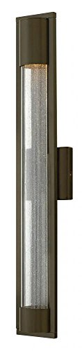Hinkley 1225BZ Contemporary Modern One Light Outdoor Wall Mount from Mist collection in Bronze/Darkfinish,