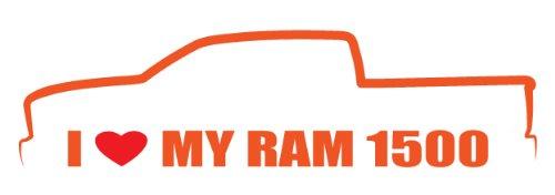 (I Love My Ram 1500 Crew cab Decal Size :8x2.2 Inch (20,5x5,5cm) Die cut sticker)