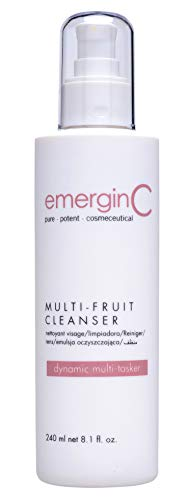 emerginC - Gentle Multi-Fruit Cream Cleanser, Face Wash with Natural Fruit Extracts (8.1oz / 240ml)