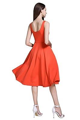 VEIISAR Women's Casual Sleeveless Swing Cocktail Dress