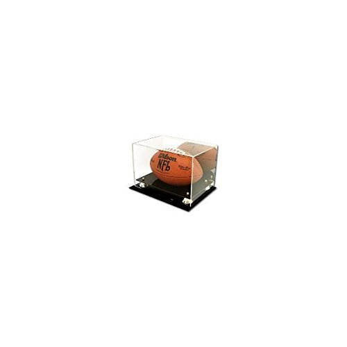 (Collectible NFL - NCAA Size Deluxe UV Acrylic Football Holder Display Case - With Mirror)