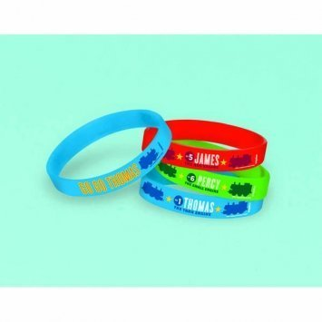 Thomas Tank Engine Party Games - Thomas The Tank Engine Rubber Bracelet Favor 4 Pack-2Pack