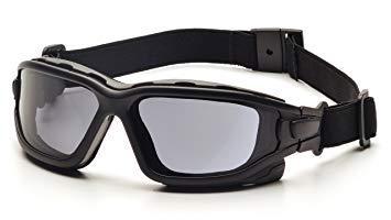 Pyramex I-Force Sporty Dual Pane Anti-Fog Goggle,Black Frame/Gray Anti-Fog Lens. Premium Pack