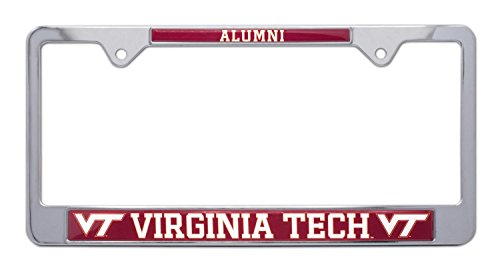 All Metal NCAA VT Hokies Alumni License Plate Frame (Virginia Tech)