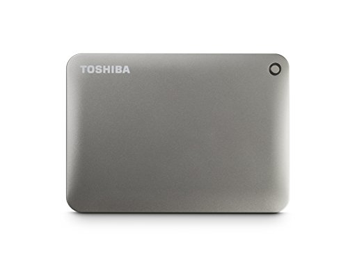 Toshiba Canvio Connect II 3TB Portable Hard Drive, Silver (HDTC830XC3C1)