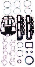 OMC / JOHNSON / EVINRUDE 150 HP 1991-2000 , 175 HP 1991-2000 Complete Power Head Gasket Kit V6 60 Degree Carbureted WSM 500-147 OEM# 437155 ()