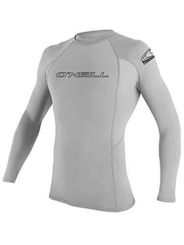 6oz Men's O'Neill BASIC L/S Rashguard in Gray - XL