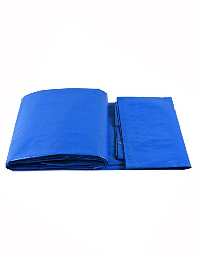 PIPIXIA Light PE Waterproof Cloth Car Cover Cloth Tarp Strong Strong Folding Resistant Buttonhole Suitable Trucks Motorcycle Bicycle Tarpaulin Grain Machine Equipment 12 mil