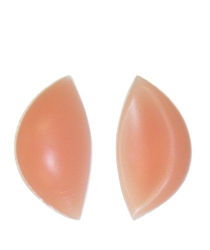 180g/pair - SODACODA Crescent Silicone Inserts Chicken Fillets Breast Enhancers For Bras, Swimsuits and Bikini – Create maximum cleavage - suitable for A, B, C and D Cups (180g/pair, Beige)