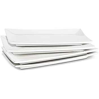 Lifver 10-inch Porcelain Serving Platter/Rectangular Plates Natural White Set of  sc 1 st  Amazon.com & Amazon.com | Lifver 10-inch Porcelain Serving Platter/Rectangular ...