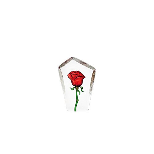 Mats Jonasson Red Rose Crystal (Mats Jonasson Crystal)