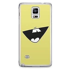 Smiley Samsung Note 4 Transparent Edge Case - Design 1