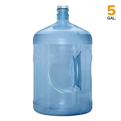 Garrafa Reutilizable de plástico, sin BPA, bidón de agua, fabricado en los Estados Unidos, 5 Gallon, 5 Gallon: Amazon.es: Deportes y aire libre