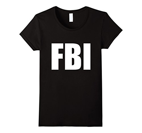 Womens FBI Replica Agent Inspector Funny Halloween Costume T-Shirt Small (Fbi Agent Womens Costume)