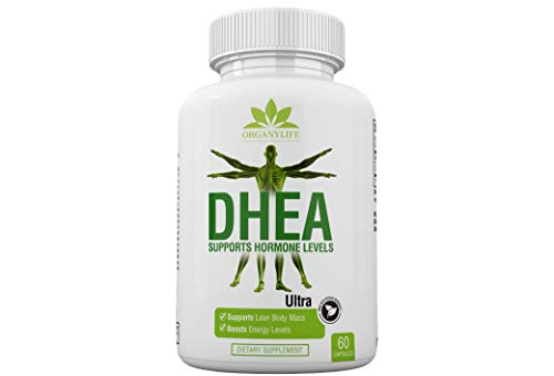 Pure DHEA Supplement 50mg Capsules by OrganyLife – Youthful Energy Levels for Women & Men – Weight Loss, Support Hormone Levels, Booster Immune, Bone & Muscle Health-Non-GMO 60 Pills