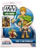Playskool Heroes, Star Wars, Jedi Force Figures, Luke Skywalker and Yoda