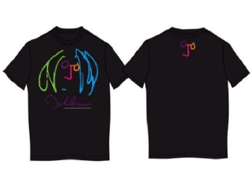 John Lennon Self Portrait Soft Jersey Black T-Shirt (Large)
