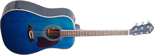 Oscar Schmidt OG2TBL-A-U Acoustic Guitar - Blue by Oscar Schmidt
