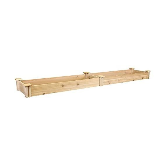 Greenes Fence Premium Cedar Raised Garden Bed 1 GREENES PREMIUM RAISED GARDEN BED: Greenes Fence Premium line of cedar raised garden beds allows you to create an open-bottom frame to support your garden. Raised garden beds give your plants the room they need to grow in the location of your choice. Our cedar frame is left untreated, which means it is organic and safe to grow vegetables, herbs, and fruits in. PREMIUM LINE: With sanded boards that are thicker than our Value and Original lines, our Premium raised garden beds are an exceptional choice for all your growing needs. EASY TO SET UP: Greenes Fence raised garden beds use dovetail interlocking joints, which makes assembly a breeze. Each board slides into the corner posts without tools to form a secure open-bottom garden frame. Every corner post is routed on all four sides for easy assembly and expansion. The decorative tops can be added to each post using a screwdriver.
