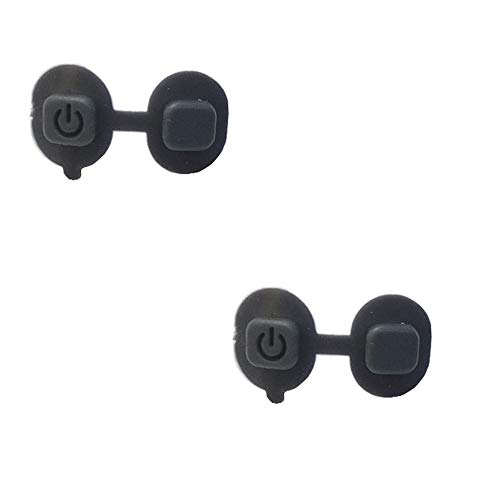 - Rhinos Wireless System Rubber Mute Switch Button Compatible for Shure SLX2,2 Pack