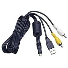MPF Products Replacement USB & AV Audio Video Cable Lead Cord for Sony Cybershot DSC-S650, DSC-S700, DSC-S730, DSC-S750, DSC-S780, DSC-S800, DSC-S850, DSC-S950, DSC-S2000, DSC-S2100, DSC-W180, DSC-W190, DSC-W310, DSC-W320, DSC-W330, DSC-W370, DSC-W520, DSC-W530, DSC-W550, DSC-W610, DSC-W620, DSC-W630 & DSC-W670 Digital Cameras