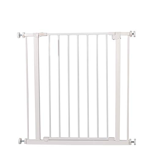 Safety Pet Baby Gate,Easy Walk Indoor Thru Gate Metal Expandable Baby Pet Safety Gate for House,Stairs,Doorways,Fits Spaces Between 30