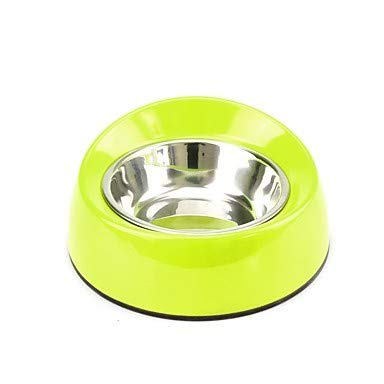 Black S Black S WHFDRHGW Pet Dog Bowls Portable L Cat Dog Outfits Feeders Pet Bowls & Feeding Multi Layer Durable White Black Red Green,Black,S