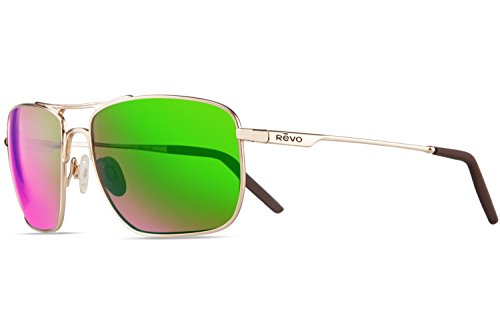e3964c8bf9 Revo Unisex RE 3089 Groundspeed Rectangular Polarized UV Protection  Sunglasses Aviator