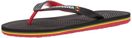 Quiksilver Men's Haleiwa Sandal, Black/red/Green, 11 M US