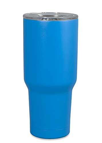 30 oz Blue Stainless Steel Tumbler - Insulated and Seamless with a Twist to Close Lid and Straw Guaranteed to Keep Cold or Hot Drinks at the Perfect Temperature for Your One Busy Life OBL
