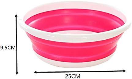 Fssh-mlx 1PCSクリエイティブ屋外折りたたみ式の洗面台のポータブル旅行テレスコピック学生寮赤ちゃん赤ちゃんの洗面台WF613950 (色 : S rose Red)