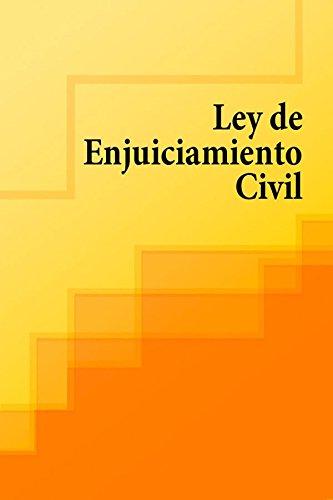 Descargar Libro Ley De Enjuiciamiento Civil España