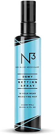 N3 No Name Necessary Dewy Scented Extreme Long Lasting and Hydrating Anti-aging Makeup Setting Spray (200ml)