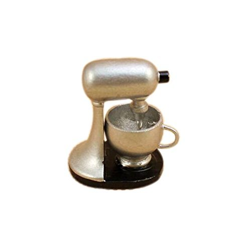 Dimart Lovely Family Kitchen Modern Blender - 1;12 Dollhouse Miniature Accessories - Silver