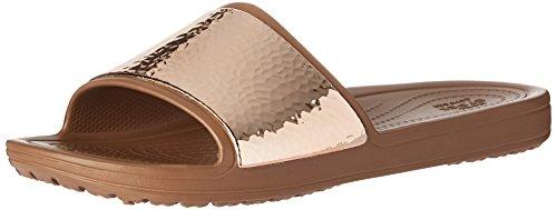 Crocs Dames Sloane Verfraaid Dia Sandelhout Brons / Brons