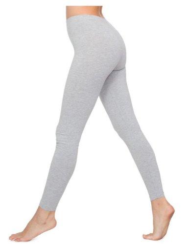 Funky Boutique Damen Leggings aus Baumwolle : Farbe - Ganz Grau im Gesicht : Größe - 6/8 S