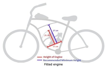 80cc 2 Stroke Engine Motor Kit Motorized Bicycle Bike Tan...