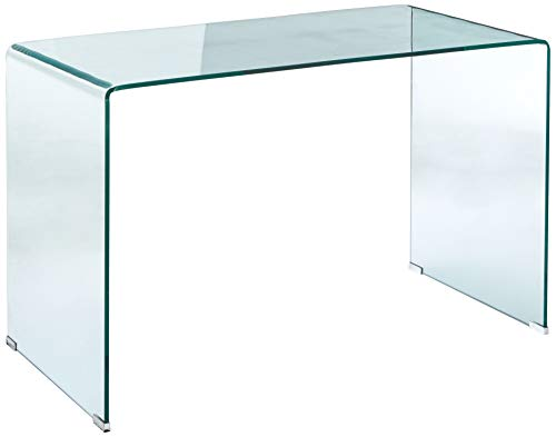 Coaster Home Furnishings 801581 Coaster Mid-Century Modern Clear Glass Writing Desk, 47.25'' L x 23.5'' W x 29.5'' H, (Glass Modern Desk)